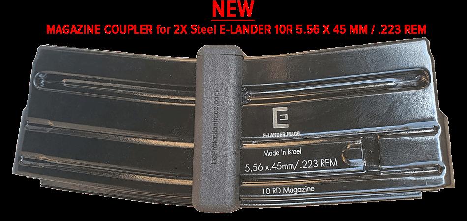 MAGAZIN KOPPLER MIT 2X E-LANDER 10R 5.56 X 45 MM / .223 REM