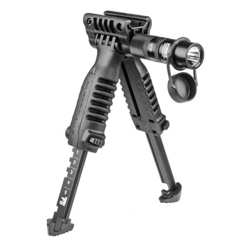 Foregrip Bipod with built-in Tactical Light