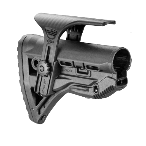 Schulterstütze AR15 / M16 / M4 Stil - Rückstoßdämpfer / Wangenauflage