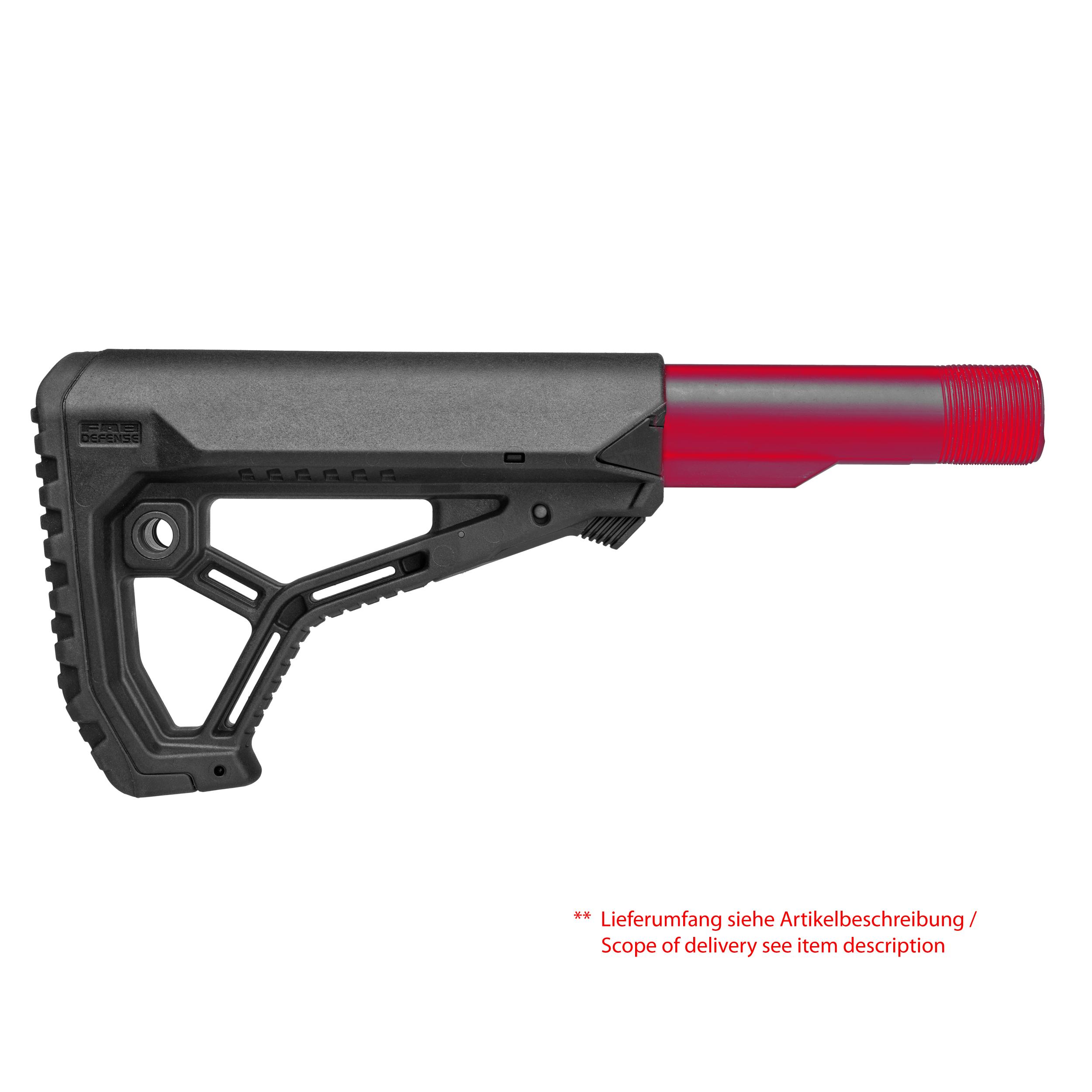 Ergonomic shaped lightweight buttstock