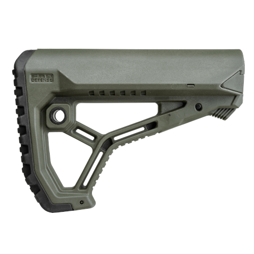 Ergonomic shaped lightweight buttstock