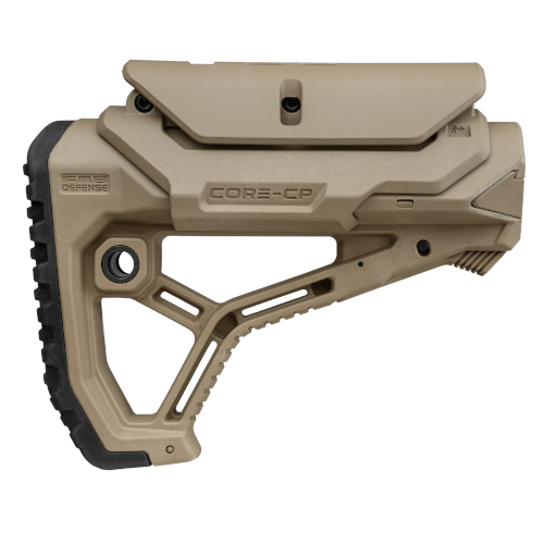 Ergonomic shaped lightweight buttstock with Cheek Rest