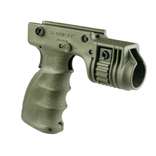 Tactical Foregrip and 1� Weapon Light Adaptor with Rear On/Off Trigger