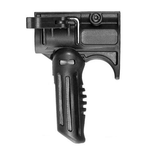 Integrated Folding Foregrip and 1 Inch Flashlight Mount
