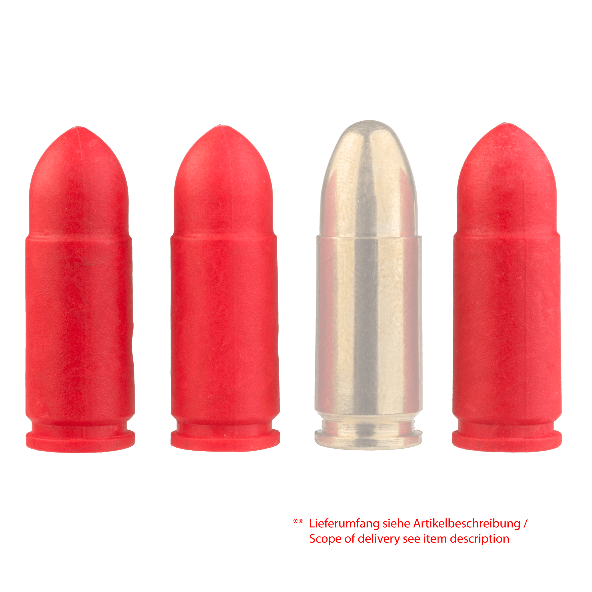 Practice Dummy Ammunition in Calibre 9mm (10 pieces)