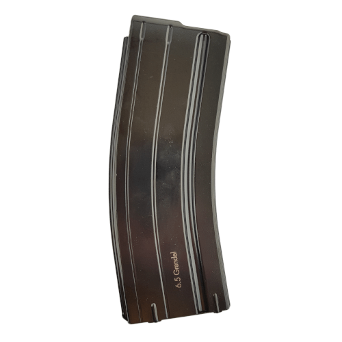 M16/AR15 Steel 25 rd 6.8 SPC Magazine - White Follower