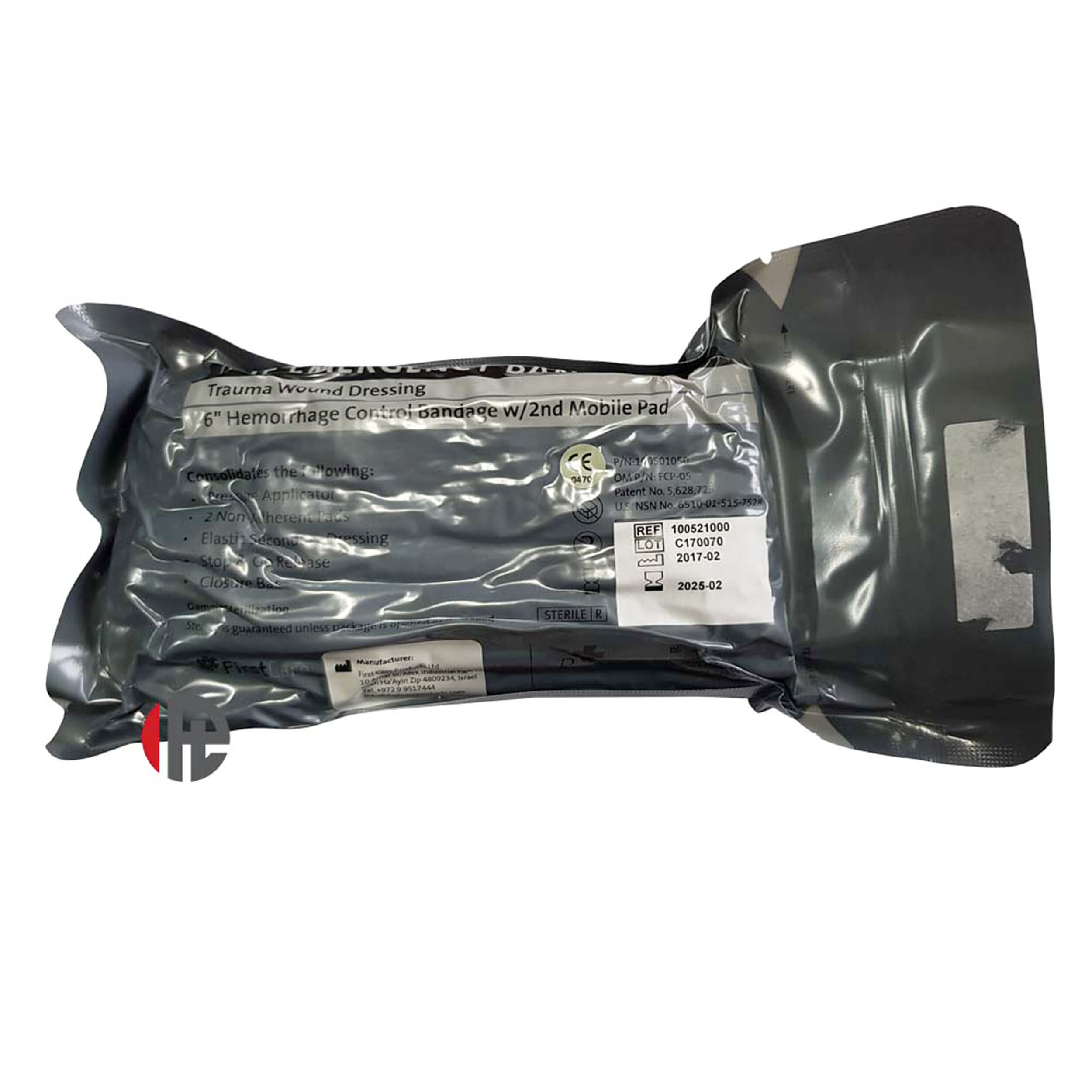 """6"""" Israeli Bandage with Pressure Bar and Second Mobile Pad"""