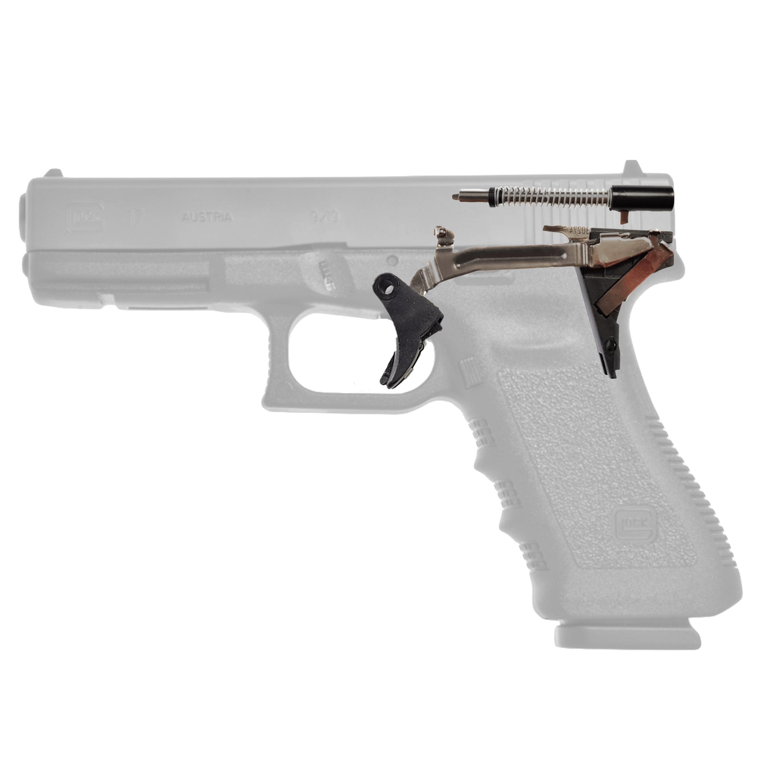 LA-GRT-A Reset Trigger Glock 9mm / .40 S & W / .357 SIG - Gen 3