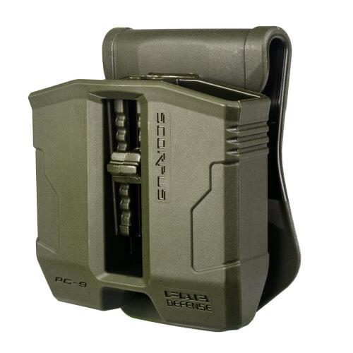 Doppel Magazinholster 360° - für Glock 17, 19, 22, 23, 25, 26, 27, 31, 32, 33, 34, 35, 37, 38, 39