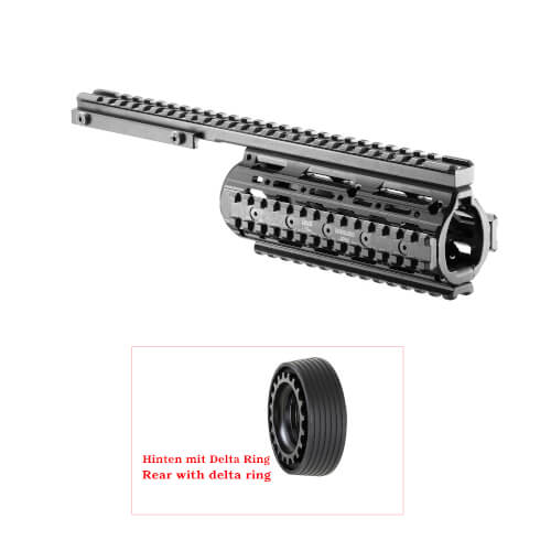 M16 / M4 / AR-15 Free Floating Quad Rail Handschutz