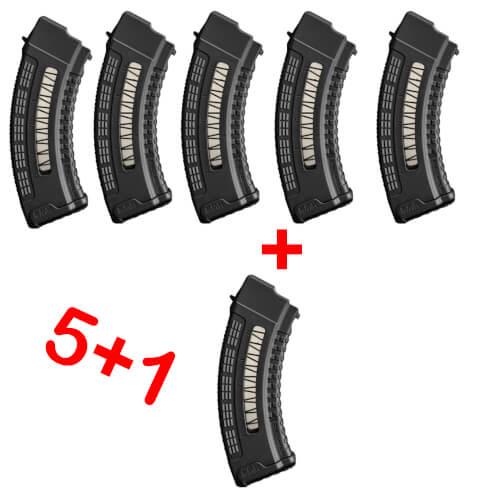 5+1 AK47 30 SCHUSS POLYMER MAGAZIN PAKET
