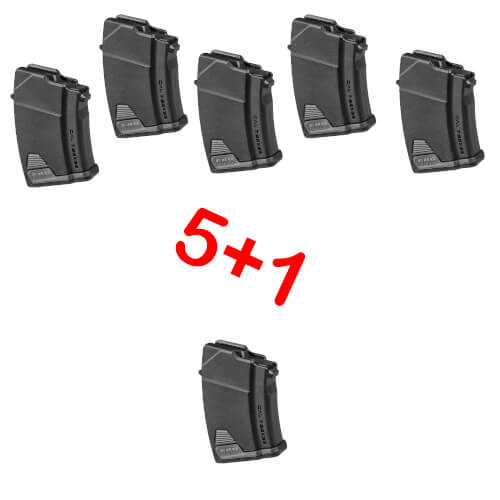 5+1 AK47 10 SCHUSS POLYMER MAGAZIN PAKET