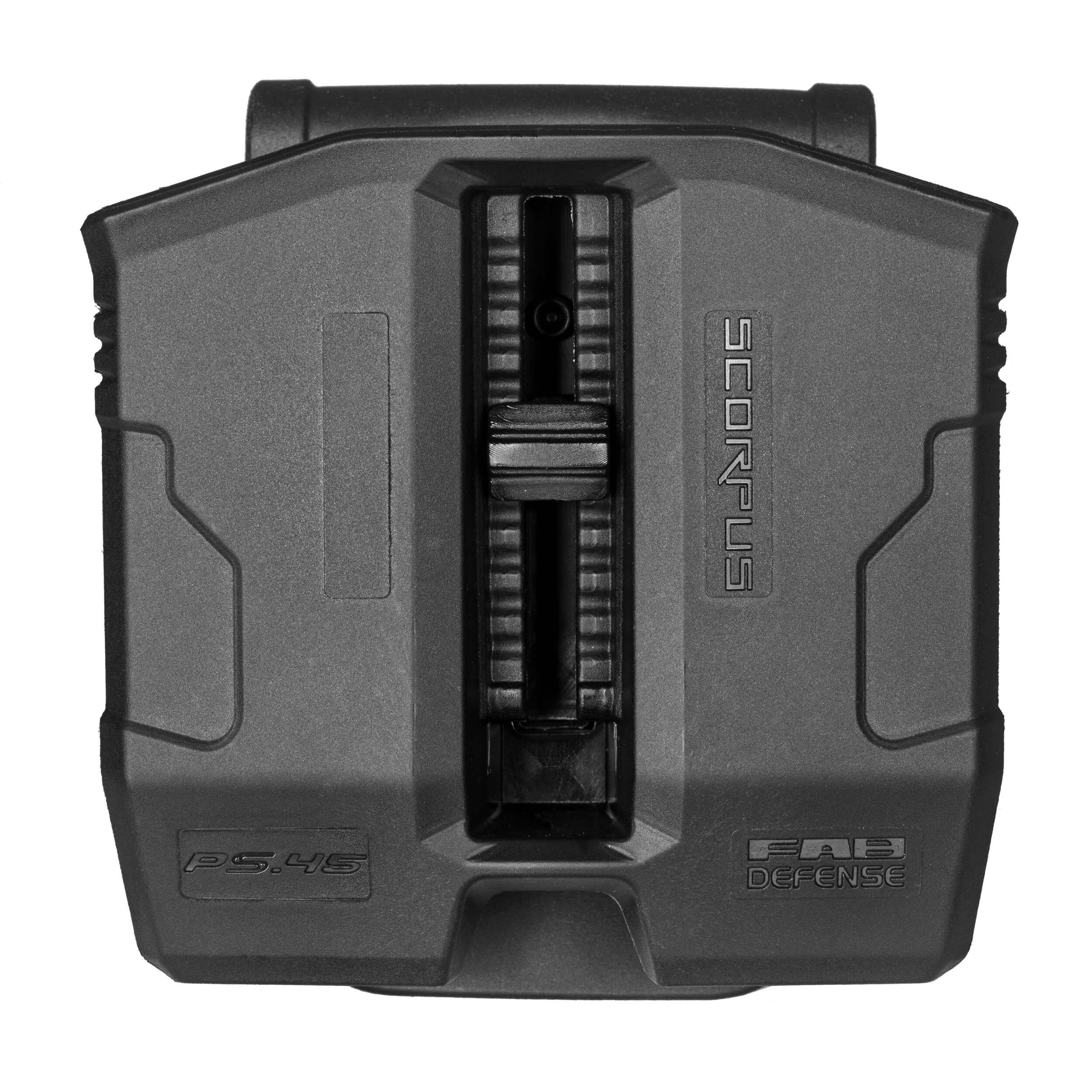 Double Magazine Pouch for .45/10mm Double-Stack Steel Magazines w/ Swivel