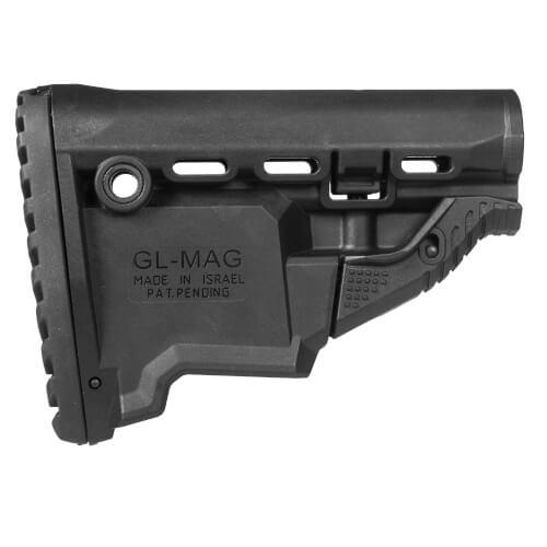Schulterstütze AR15 / M16 / M4 - mit Schacht für Reservemag.