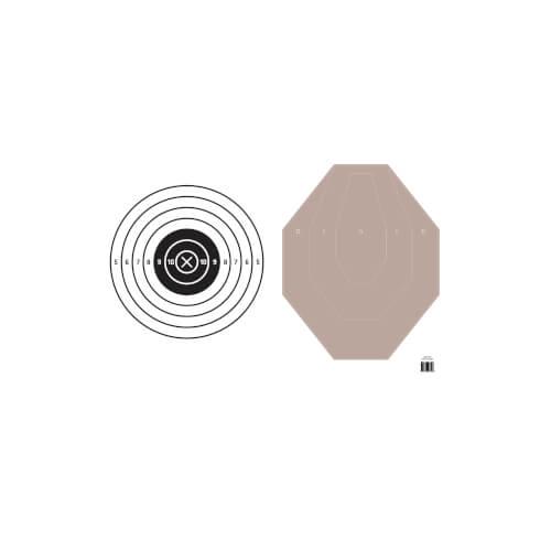 Upper Torso - IPSC / Bullseye Zielscheibenhülle