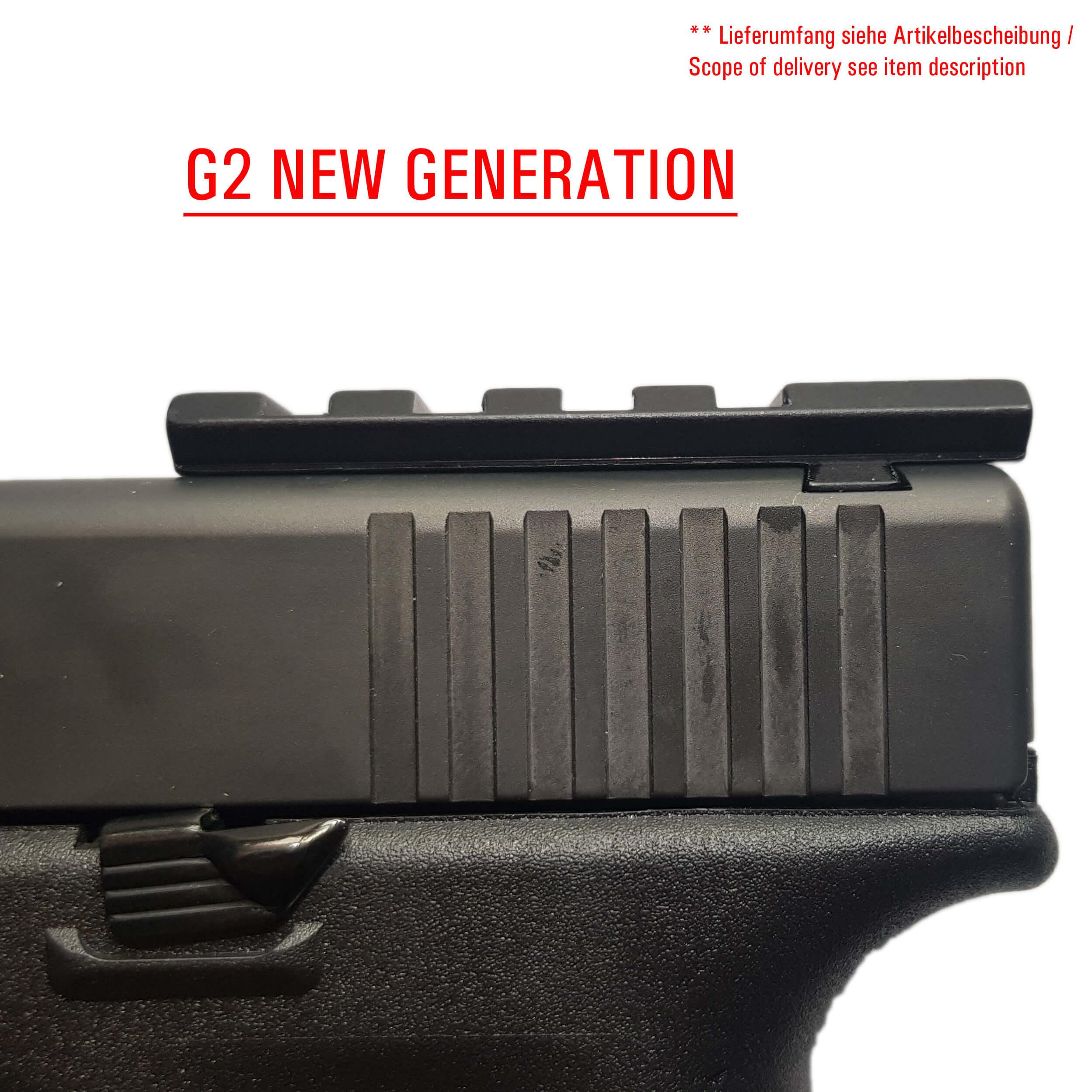 Glock Optik and Red Dot Mount GEN 1 2 3 4 & 5