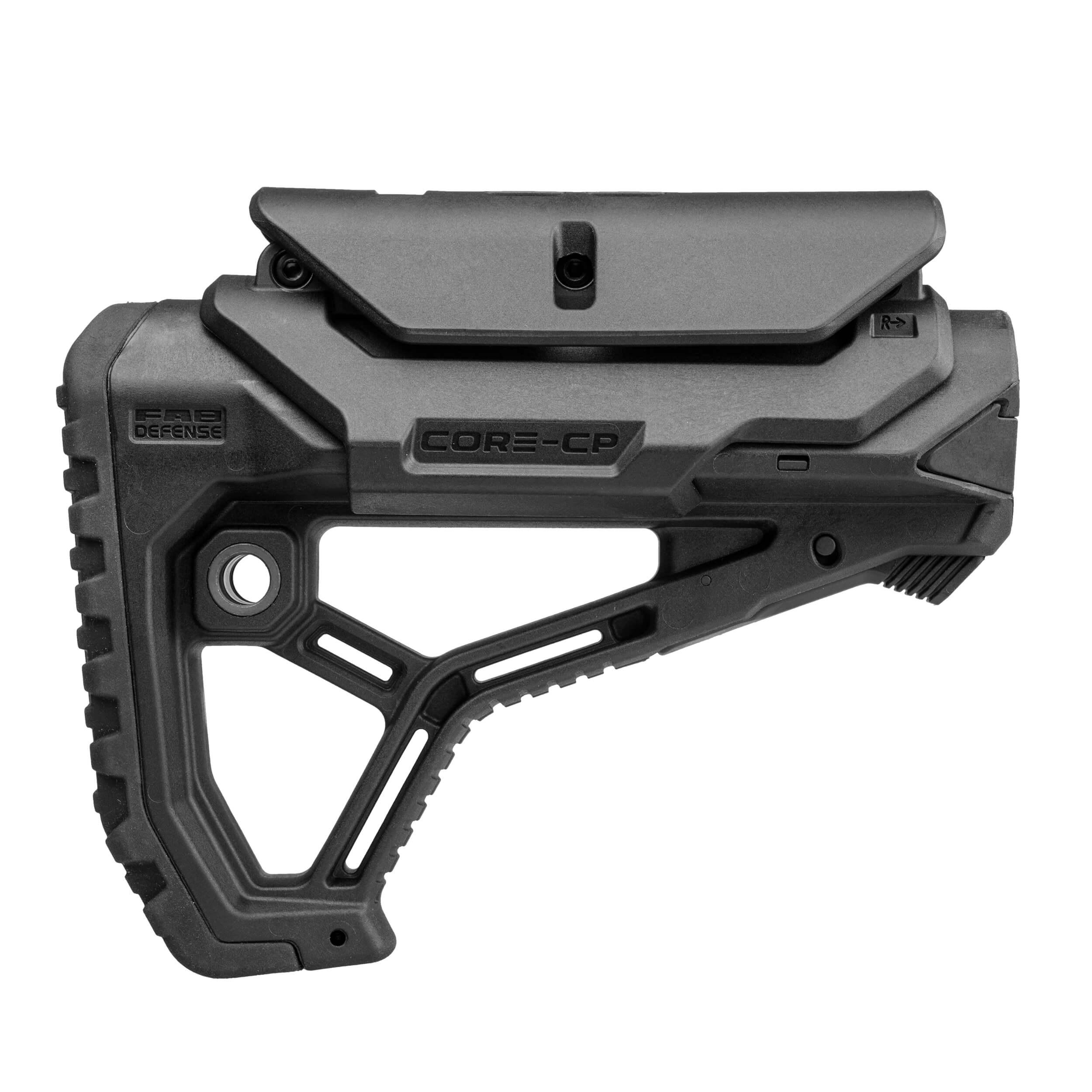Ergonomic shaped lightweight buttstock  with Cheek Rest