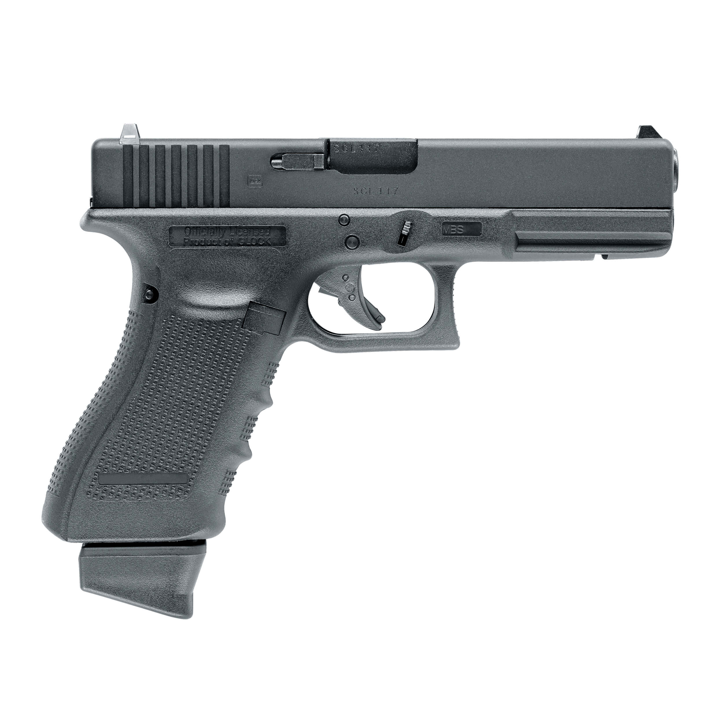 Airsoft GLOCK 17 Gen4 with metal slide and blowback CO2