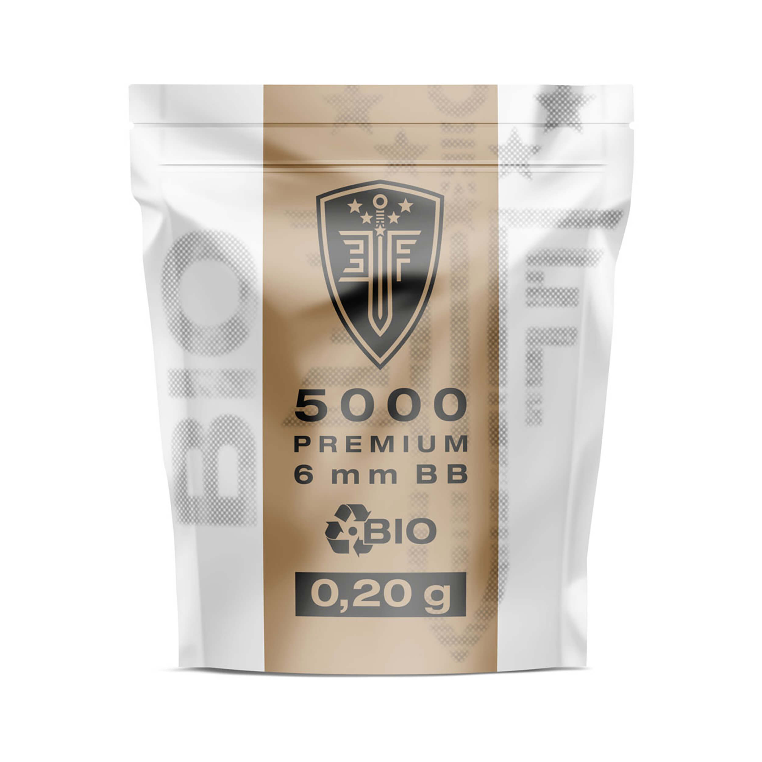 "Elite Force 6mm Bio BBs from the ""Premium Bio"" series"