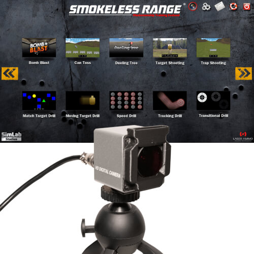 Smokeless Range ® 2.0- Home Simulator with Short Throw camera - SR001-ST