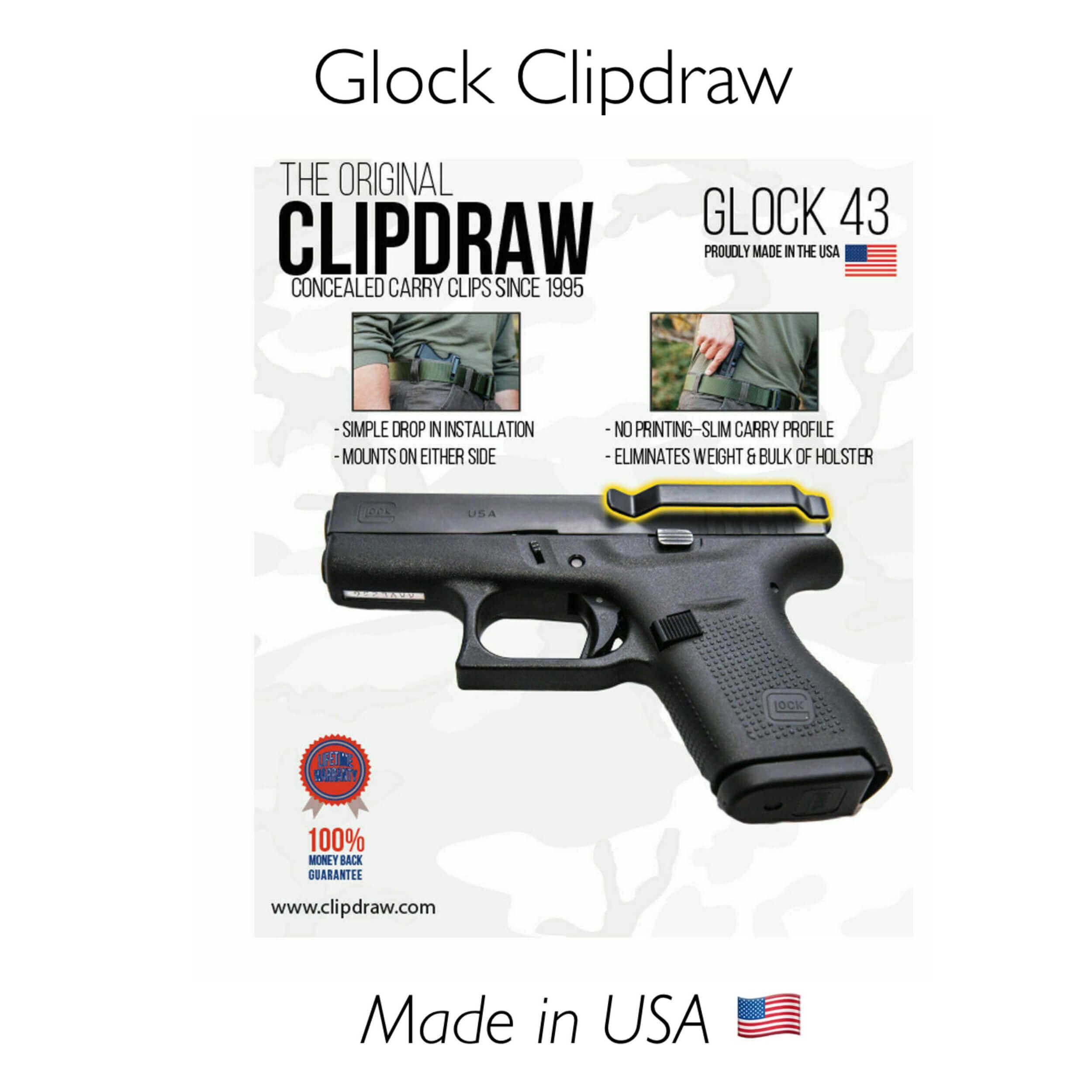 IWB Clip Holster Glock 43 / 43X  / 48
