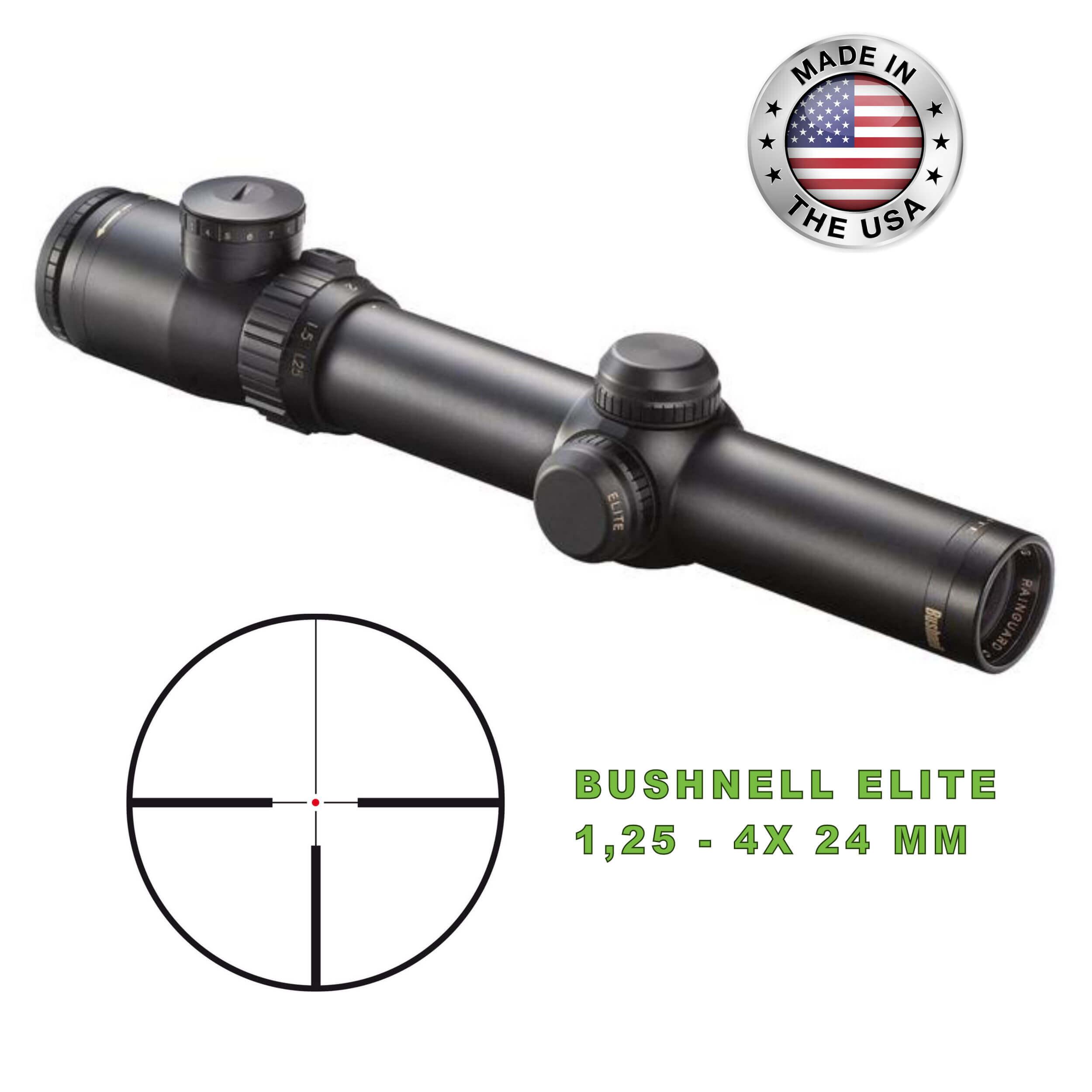 Bushnell Scope Elite M 1,25-4x24, 4A, Illuminated