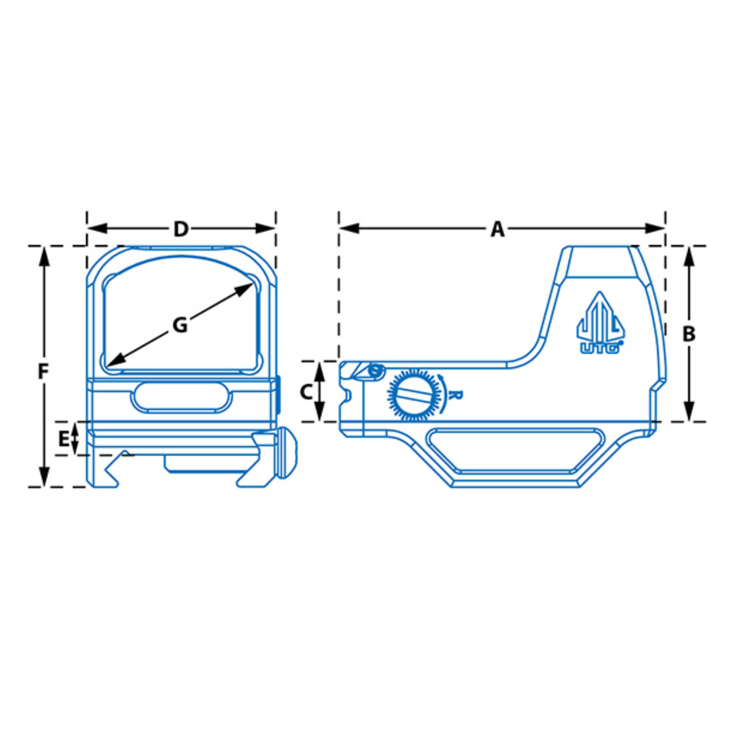 UTG® Reflex Micro Dot, Red 4 MOA Single Dot, Adaptive Base